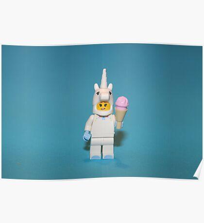Cute Little Unicorn Poster
