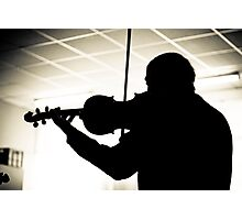 The Silhoutte Musician Photographic Print
