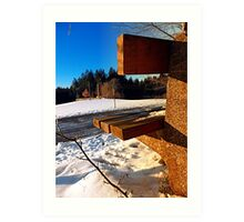 Winter afternoon point of view   landscape photography Art Print