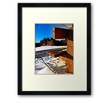 Winter afternoon point of view | landscape photography Framed Print