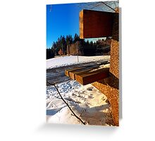 Winter afternoon point of view | landscape photography Greeting Card