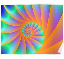 Fractal Spiral Poster