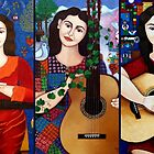 Violeta Parra collage by Madalena Lobao-Tello