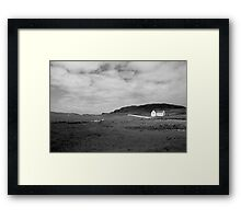Scenic Donegal church in black and white Framed Print