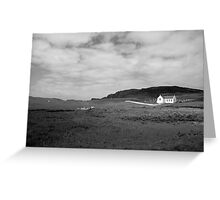 Scenic Donegal church in black and white Greeting Card