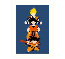 Dragonball Z History of Goku  Art Print