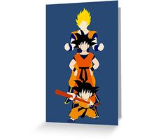 Dragonball Z History of Goku  Greeting Card