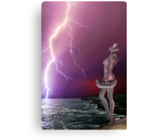 Pink Lightning - Rose and Geoff Collabe Canvas Print