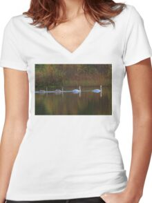 Family outing Women's Fitted V-Neck T-Shirt