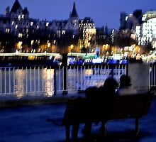 Bench, Lights, Lovers by heyitsnicole