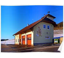 The firestation of Schönegg | architectural photography Poster
