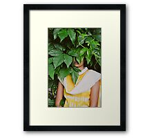 hiding place Framed Print