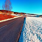 Country road on a winter afternoon | landscape photography by Patrick Jobst