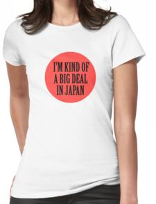 Big in Japan China Funny Cool Music Rock Pop Womens Fitted T-Shirt