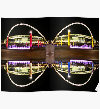 Wembley Stadium Butterfly Poster