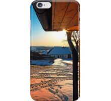 Sunny winter afternoon at the farm | landscape photography iPhone Case/Skin
