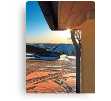 Sunny winter afternoon at the farm | landscape photography Metal Print