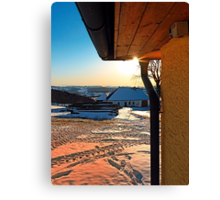 Sunny winter afternoon at the farm | landscape photography Canvas Print