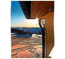 Sunny winter afternoon at the farm | landscape photography Poster
