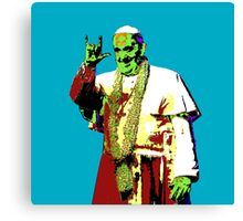 Rock Pop Pope Superstar Canvas Print