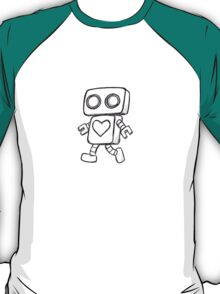Single Love Robot (Monochrome) T-Shirt