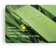 Brave Little Raindrops Canvas Print