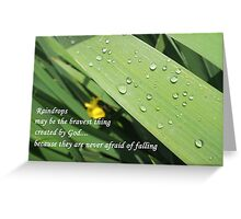 Brave Little Raindrops Greeting Card