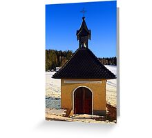 Chapel in winter scenery | architectural photography Greeting Card