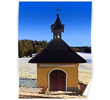 Chapel in winter scenery | architectural photography Poster