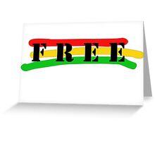 Free Raggae Music Ska Rasta Weed Smoke Greeting Card