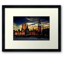 London's burning Framed Print