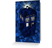 TARDIS Illustrated- Clockwork Greeting Card
