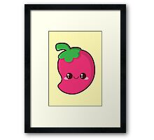 Kawaii Chilli Framed Print