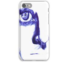 The staring Face iPhone Case/Skin