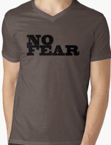 No Fear Motivational Inspirational Gym Fighter Mens V-Neck T-Shirt