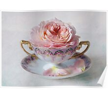Roses in a Tea Cup Poster