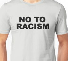 No To Racism Sport Football  Unisex T-Shirt