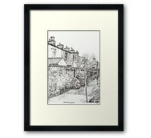 Down the Alleyway Framed Print