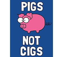 Pigs Not Cigs Photographic Print