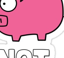 Pigs Not Cigs Sticker