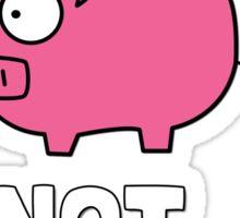 Pigs Not Cigs Sticker