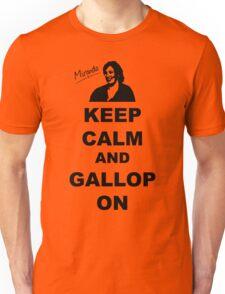 Keep Calm and Gallop On - Miranda Hart [Unofficial] Unisex T-Shirt