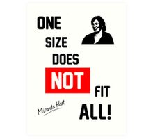 One Size Does NOT Fit All - Miranda Hart [Unofficial] Art Print