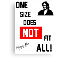 One Size Does NOT Fit All - Miranda Hart [Unofficial] Canvas Print