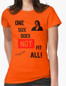 One Size Does NOT Fit All - Miranda Hart [Unofficial] Womens Fitted T-Shirt