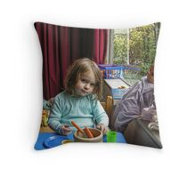 Cooking for the Family Throw Pillow
