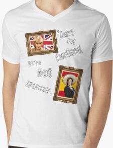 Don't Get Emotional, We're Not Spanish - Miranda Hart [Unofficial] Mens V-Neck T-Shirt