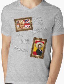 Don't Get Emotional, We're Not Spanish - Miranda Hart [Unofficial] Mens V-Neck T-Shirt