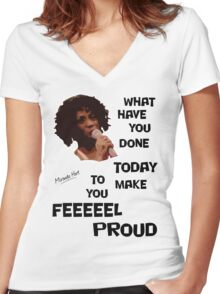 What Have You Done Today To Make You Feel Proud - Miranda Hart [Unofficial] Women's Fitted V-Neck T-Shirt