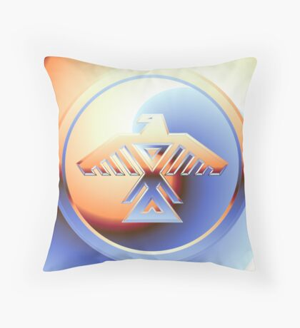 Rising Ojibway Thunderbird Throw Pillow